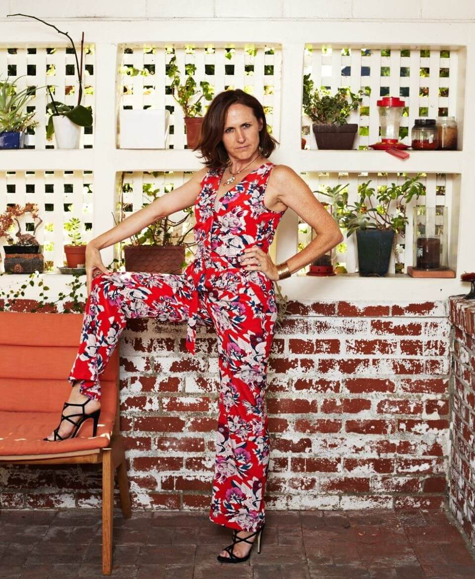 Molly Shannon in the regrettable flowered jumpsuit she bought in 2014. (Guliver Photos/ Getty Images)