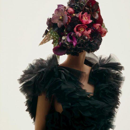 "Azuma Makoto's ""Floral Masks"" at Kei Ninomiya Paris AW 2018"