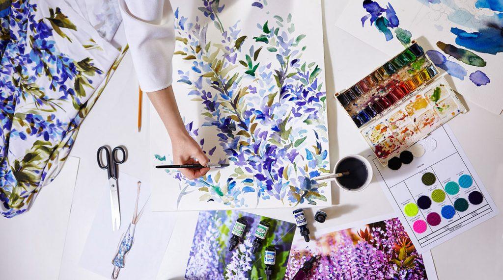 Ivanka Georgieva, patter designer and artist, showcasing some of her work process