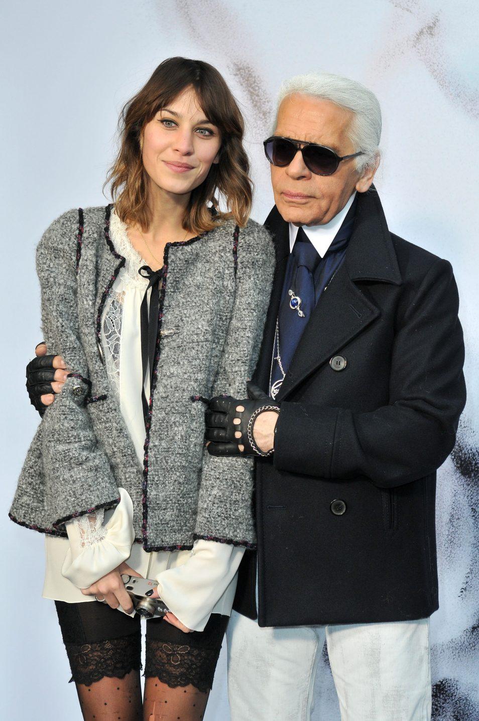 Chanel Ready To Wear - Fall/Winter 2011 - Photocall Alexa Chung Karl Lagerfeld
