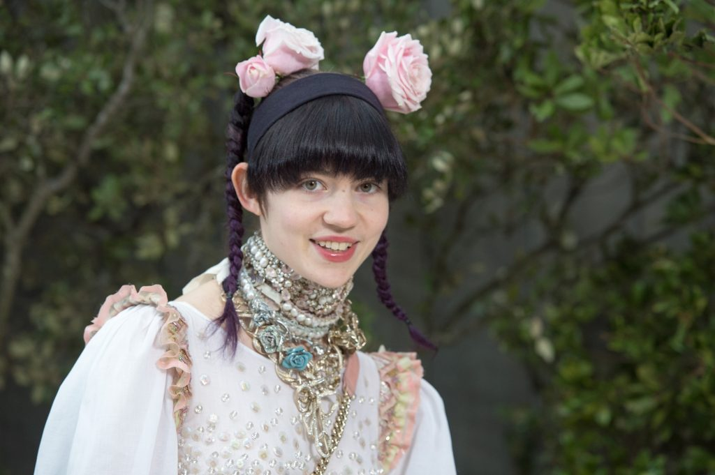 Claire Boucher, aka Grimes attends the Chanel Spring/Summer 2013 Haute-Couture show