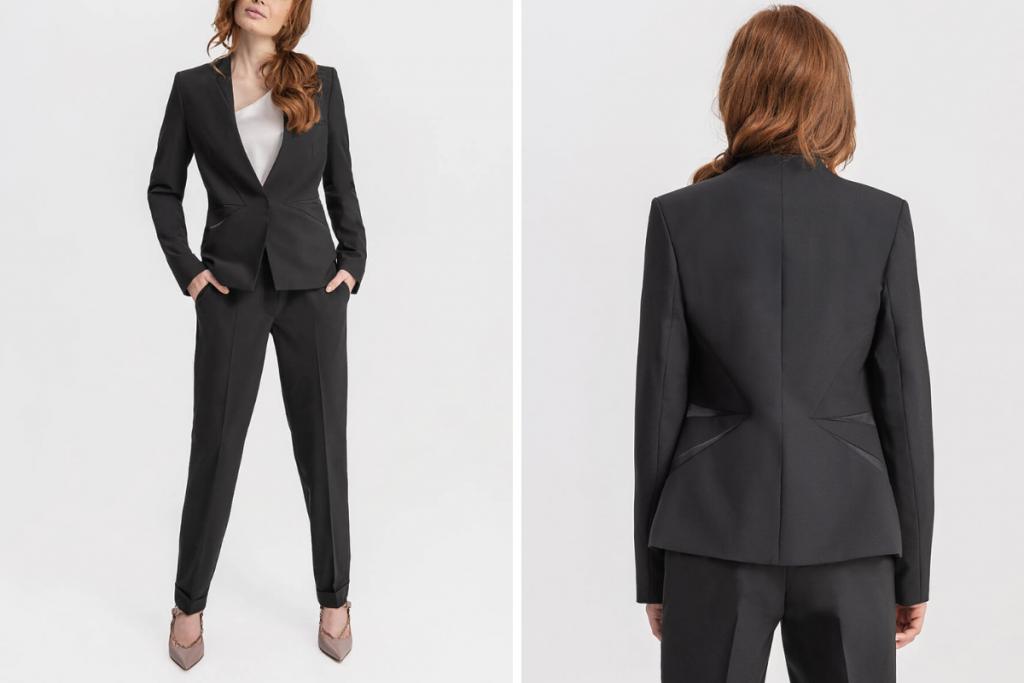 D2Line Capsule Closet Power Suit in Black