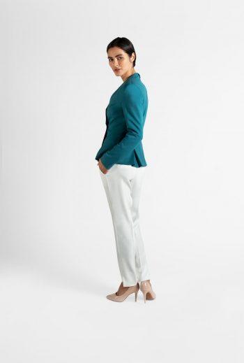 Slim-fit pleated jacket